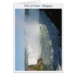 滝の眺め: ナイアガラ米国カナダ カード