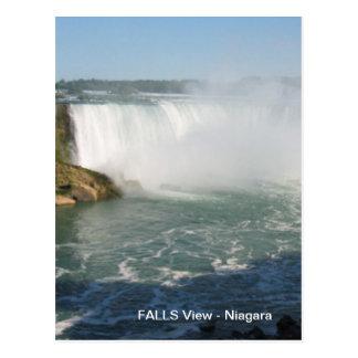 滝の眺め: ナイアガラ米国カナダ ポストカード