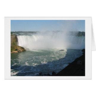 滝の眺め: ナイアガラHappyHolidaysの幸せな休日 カード