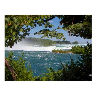滝の郵便はがきの前のナイアガラ川 ポストカード