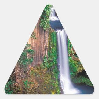 滝のToketeeの滝 三角形シール