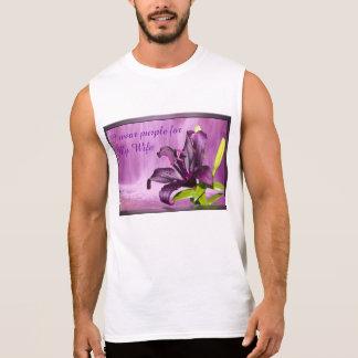滝を持つ紫色ユリ 袖なしシャツ