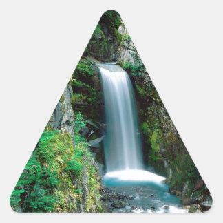 滝クリスティーンレーニア山 三角形シール