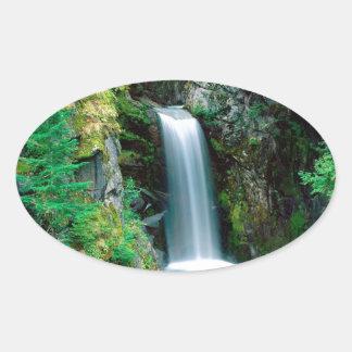 滝クリスティーンレーニア山 楕円形シール