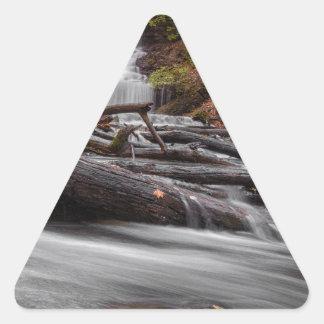 滝3 三角形シール