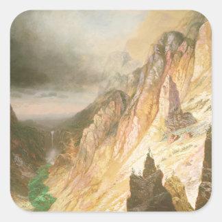 滝、イエローストーンのグランドキャニオンを下げて下さい スクエアシール