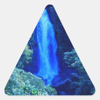 滝 三角形シール