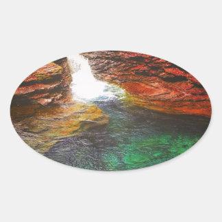 滝 楕円形シール