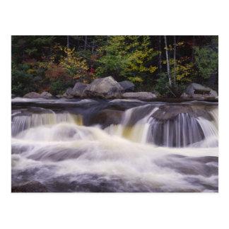 滝、白いKancamagusのハイウェー ポストカード