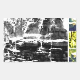滝 長方形シール