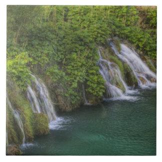 滝、Plitvice湖の国立公園 タイル