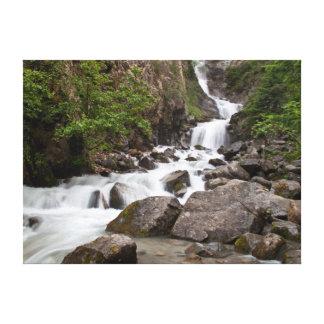 滝、Skagwayアラスカ キャンバスプリント