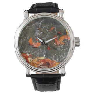 滝Iの秋の写真撮影の紅葉 腕時計