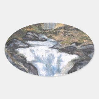 滝I 楕円形シール