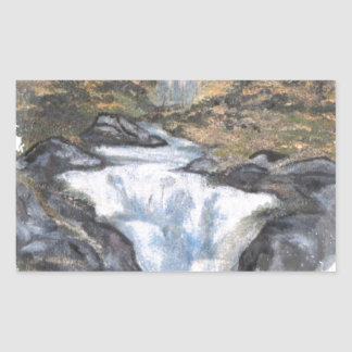 滝I 長方形シール