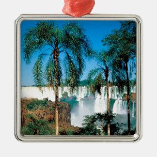 滝Iguassuアルゼンチン メタルオーナメント