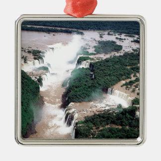 滝Iguassuブラジルアルゼンチン メタルオーナメント