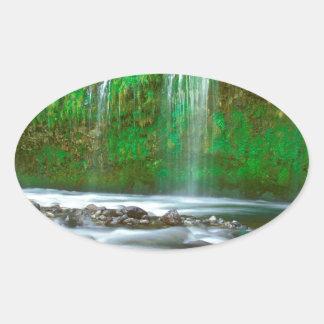 滝Mossbrae Dunsmuir 楕円形シール