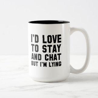 滞在および雑談 ツートーンマグカップ