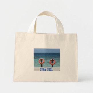 滞在のカッコいいのビーチのバッグ ミニトートバッグ