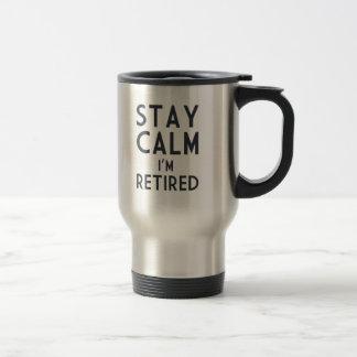 滞在の平静私は退職したです トラベルマグ