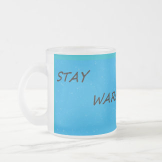 滞在の暖かいマグ フロストグラスマグカップ