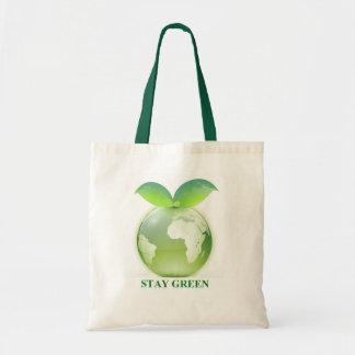滞在の緑 トートバッグ