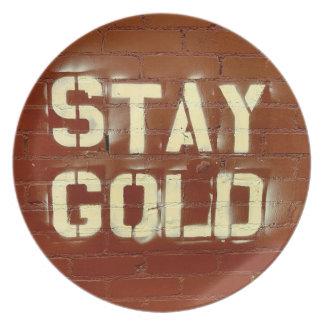 滞在の金ゴールドプレート プレート