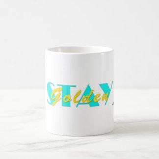 滞在の金マイアミのマグ(黄色) コーヒーマグカップ