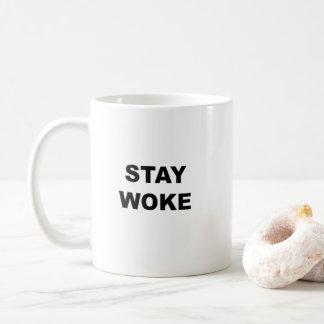 滞在は目覚めました コーヒーマグカップ