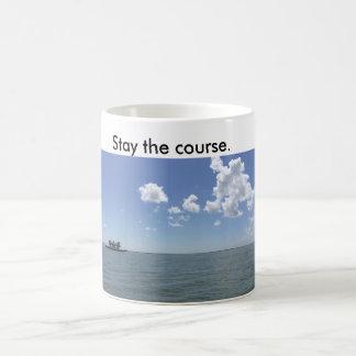 滞在を言う船が付いているコーヒー・マグコース コーヒーマグカップ