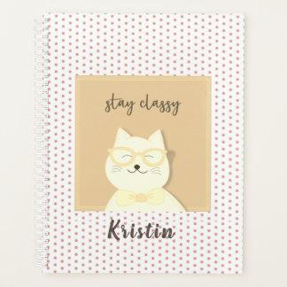 滞在上品な微笑猫のカスタマイズ可能なプランナー プランナー手帳