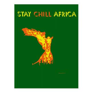 滞在冷たいアフリカ ポストカード
