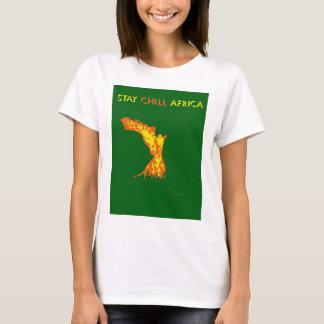 滞在冷たいアフリカ Tシャツ