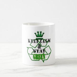 滞在緑 コーヒーマグカップ