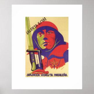 滞在警報! (1937年の) _Propagandaポスター ポスター