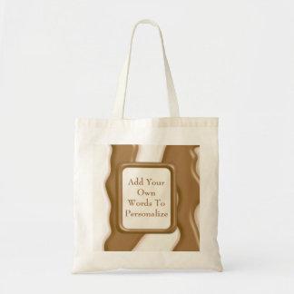 滴り-ミルクチョコレートおよび白いチョコレート トートバッグ