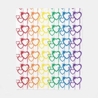 滴る心からの虹毛布 フリースブランケット