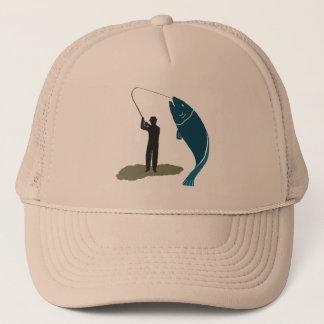 漁師および大きい捕獲物の跳躍の魚の帽子 キャップ