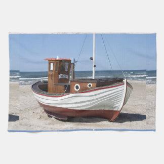 漁船のイメージ キッチンタオル