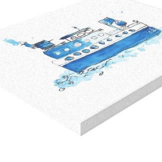 漁船のキャンバスのプリント キャンバスプリント