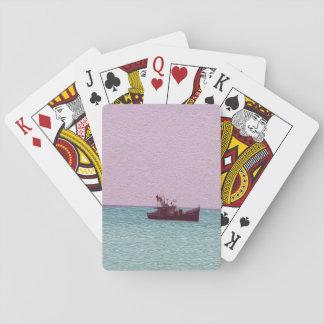 漁船のデジタル芸術のカッコいいカード トランプ