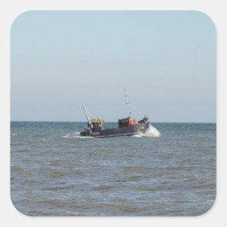 漁船の女の子Kayla スクエアシール