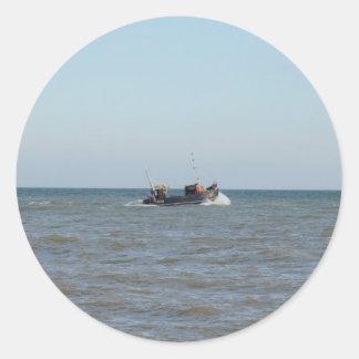 漁船の女の子Kayla ラウンドシール