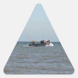 漁船の女の子Kayla 三角形シール