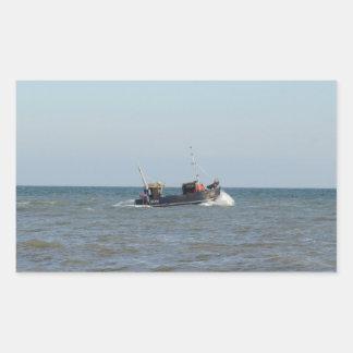 漁船の女の子Kayla 長方形シール