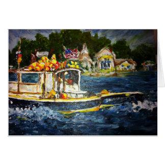 漁船の挨拶状 カード