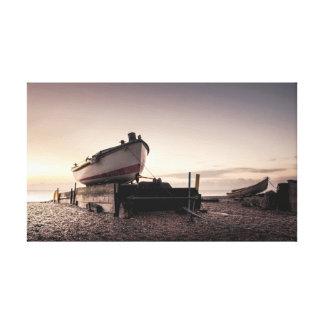 漁船の日の出 キャンバスプリント
