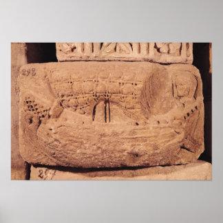 漁船を描写する墓碑 ポスター