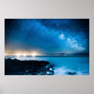 漁船上の銀河の銀河系 ポスター